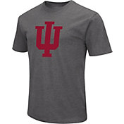 Colosseum Men's Indiana Hoosiers Grey Dual Blend T-Shirt