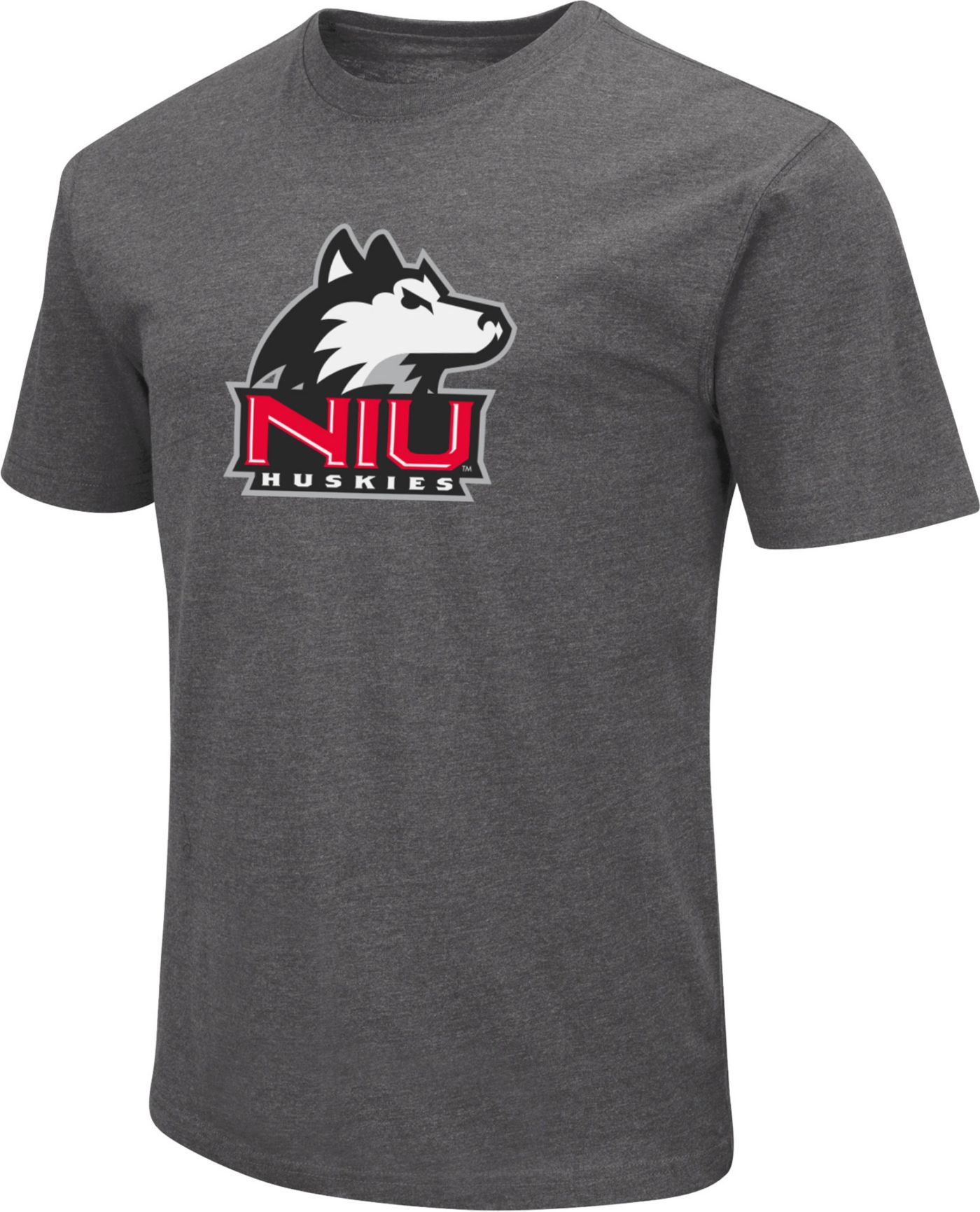 Colosseum Men's Northern Illinois Huskies Grey Dual Blend T-Shirt