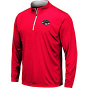 Colosseum Men's UNLV Rebels Scarlet Embossed Quarter-Zip Performance Shirt