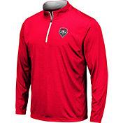 Colosseum Men's New Mexico Lobos Cherry Embossed Quarter-Zip Performance Shirt