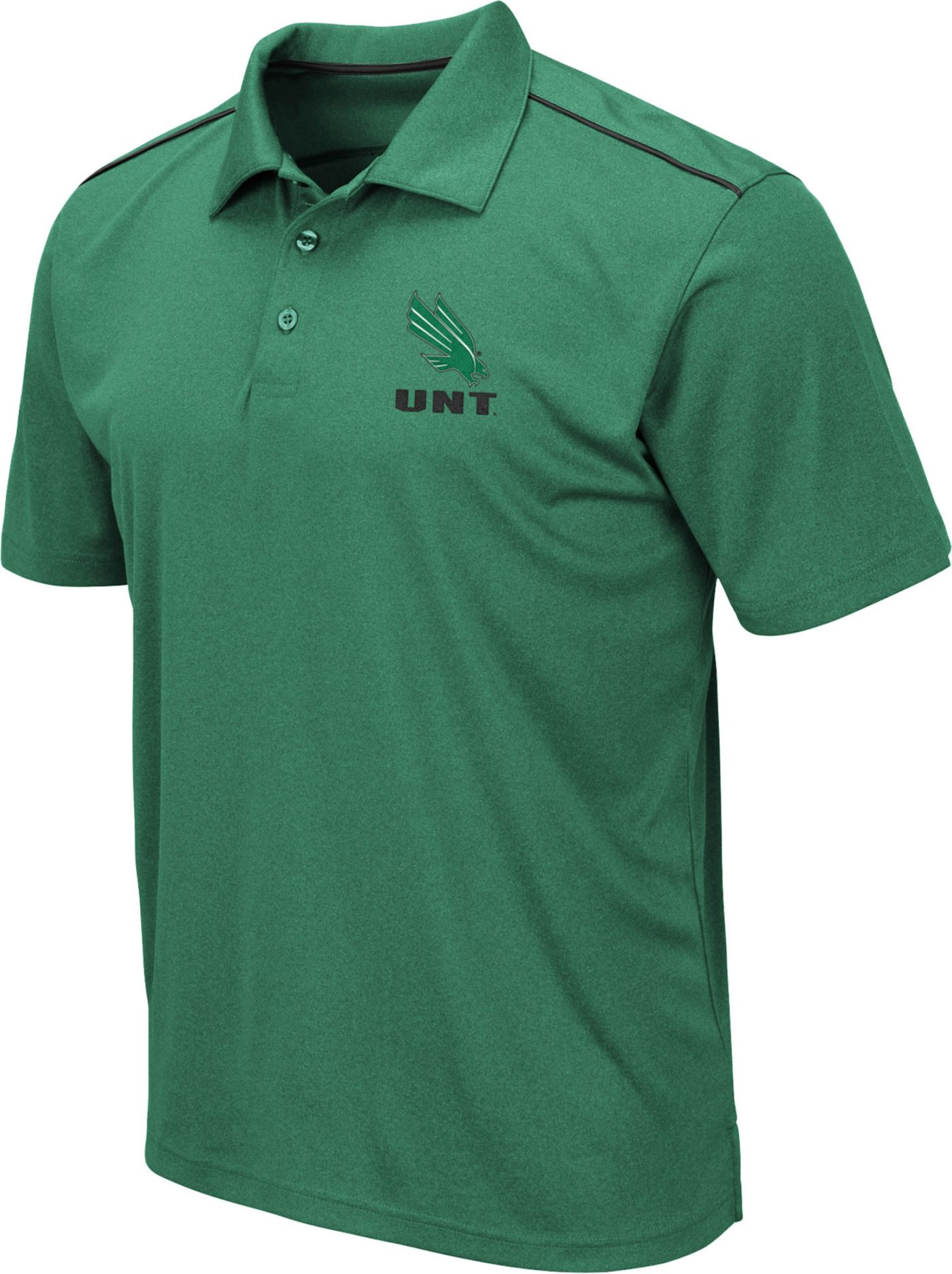 Colosseum Men's North Texas Mean Green Green Eagle Polo