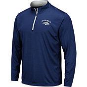 Colosseum Men's Nevada Wolf Pack Blue Embossed Quarter-Zip Performance Shirt