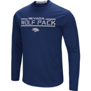 Colosseum Men's Nevada Wolf Pack Blue Long Sleeve Performance T-Shirt