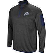 Colosseum Men's Navy Midshipmen Grey Amnesia Quarter-Zip Shirt