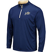 Colosseum Men's Navy Midshipmen Navy Embossed Quarter-Zip Performance Shirt