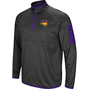 Colosseum Men's Northern Iowa Panthers  Grey Amnesia Quarter-Zip Shirt