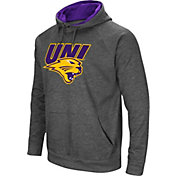 Colosseum Men's Northern Iowa Panthers  Grey Fleece Pullover Hoodie