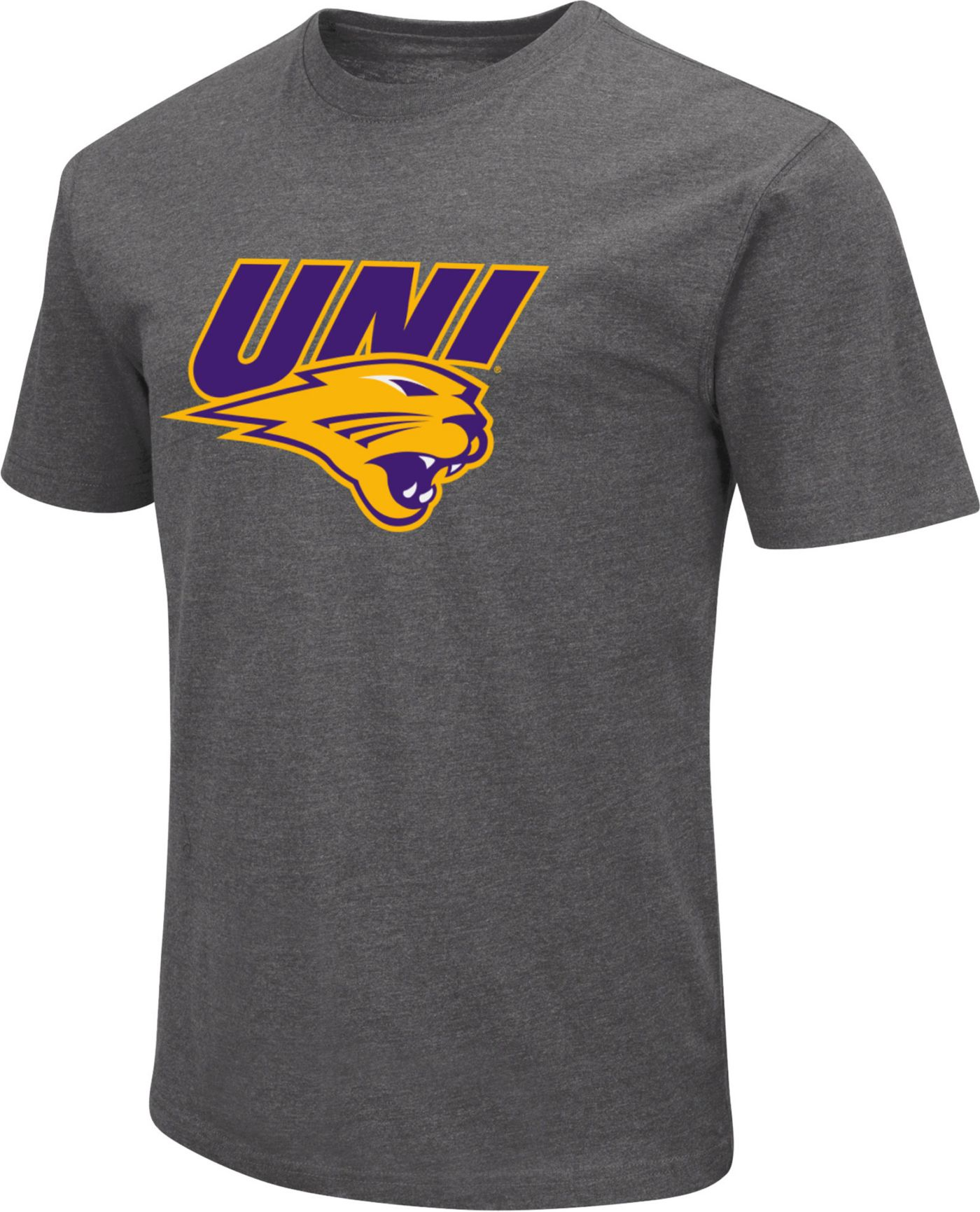 Colosseum Men's Northern Iowa Panthers  Grey Dual Blend T-Shirt