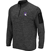 0913b626c Colosseum Men's Northwestern Wildcats Grey Quarter-Zip Shirt