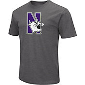 Colosseum Men's Northwestern Wildcats Grey Dual Blend T-Shirt