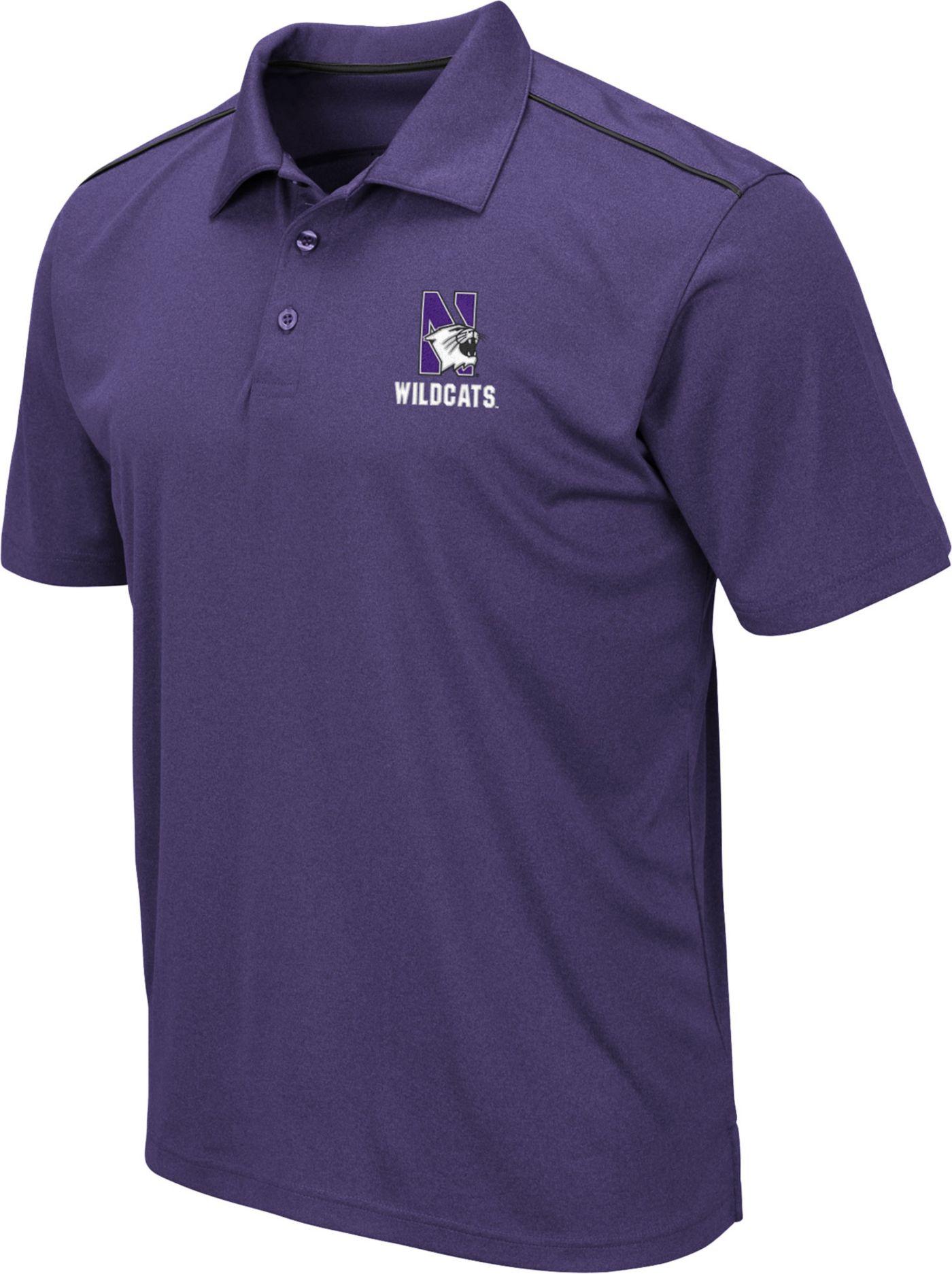 Colosseum Men's Northwestern Wildcats Purple Eagle Polo