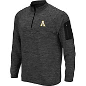 Colosseum Men's Appalachian State Mountaineers Grey Quarter-Zip Shirt