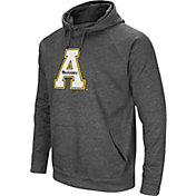 Colosseum Men's Appalachian State Mountaineers Grey Fleece Pullover Hoodie