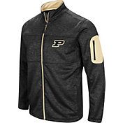 Colosseum Men's Purdue Boilermakers Glacier Full-Zip Black Jacket