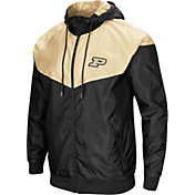 Colosseum Men's Purdue Boilermakers Black/Old Gold Galivanting Full Zip Jacket
