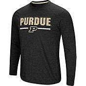Colosseum Men's Purdue Boilermakers Touchdown Long Sleeve Black T-Shirt