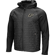 Colosseum Men's Purdue Boilermakers Grey/Black Baseplate Full-Zip Jacket