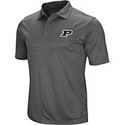 Colosseum Men's Purdue Boilermakers Grey Cut Shot Polo