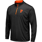 Colosseum Men's Princeton  Tigers Embossed Quarter-Zip Performance Black Shirt