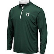 Colosseum Men's Portland State Vikings Green Embossed Quarter-Zip Performance Shirt