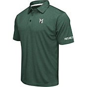 Colosseum Men's Portland State Vikings Green Axis Polo