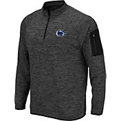 Colosseum Men's Penn State Nittany Lions Grey Quarter-Zip Top