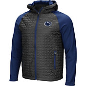 Colosseum Men's Penn State Nittany Lions Grey/Blue Baseplate Full-Zip Jacket