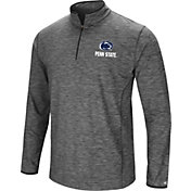 Colosseum Men's Penn State Nittany Lions Grey Quarter-Zip Shirt