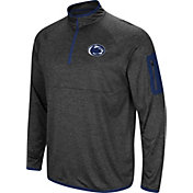 Colosseum Men's Penn State Nittany Lions Grey Amnesia Quarter-Zip Shirt