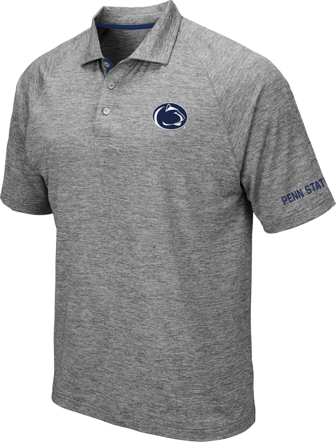 Colosseum Men's Penn State Nittany Lions Grey Chip Shot Polo