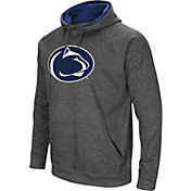 Colosseum Men's Penn State Nittany Lions Grey Fleece Pullover Hoodie