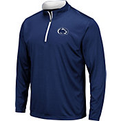 Colosseum Men's Penn State Nittany Lions Blue Embossed Quarter-Zip Performance Shirt