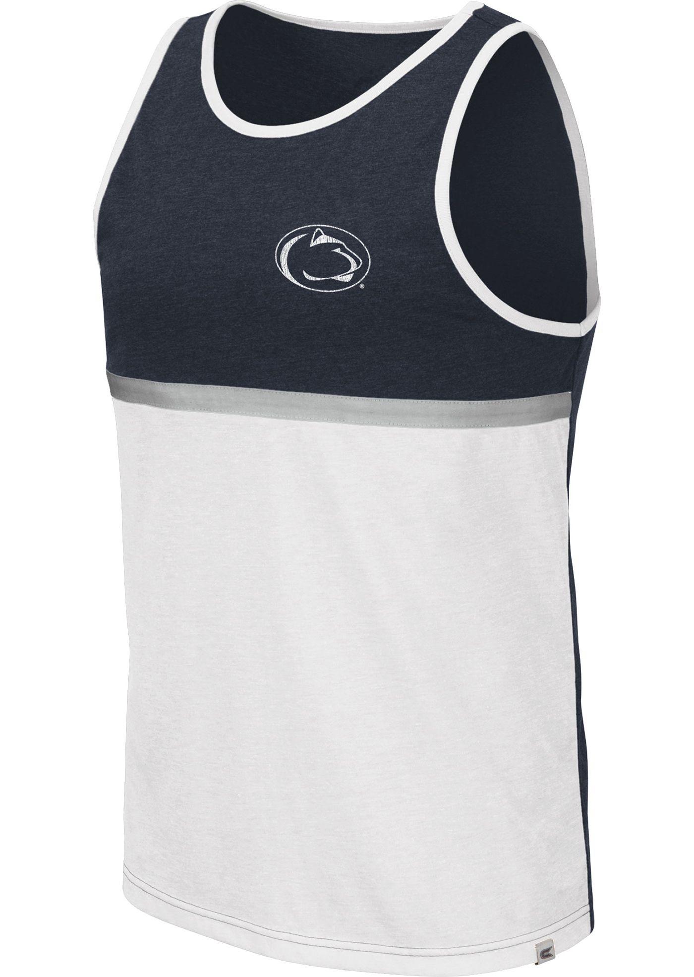 Colosseum Men's Penn State Nittany Lions Blue/White La Paz Tank Top