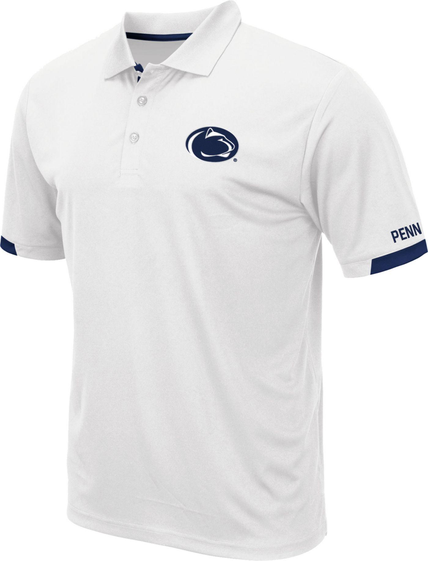 Colosseum Men's Penn State Nittany Lions Fairway White Polo