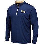 Colosseum Men's Pitt Panthers Blue Embossed Quarter-Zip Performance Shirt