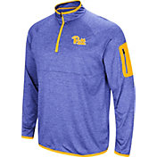 Colosseum Men's Pitt Panthers Blue Amnesia Quarter-Zip Shirt