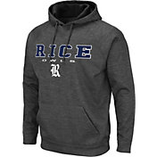 Colosseum Men's Rice Owls Grey Pullover Hoodie