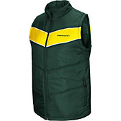 Colosseum Men's Oregon Ducks Green Red Beauleiu Full-Zip Vest
