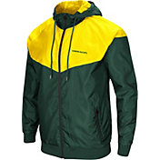 Colosseum Men's Oregon Ducks Green/Yellow Galivanting Full Zip Jacket