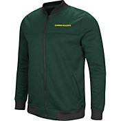 Colosseum Men's Oregon Ducks Green Sack The QB Full-Zip Bomber Jacket