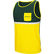 Colosseum Men's Oregon Ducks Green/Yellow Lollygaggers Tank Top