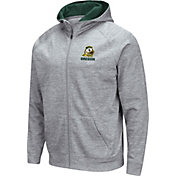 Colosseum Men's Oregon Ducks Grey Full-Zip Hoodie