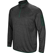 Colosseum Men's Oregon Ducks Grey Amnesia Quarter-Zip Shirt