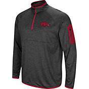 Colosseum Men's Arkansas Razorbacks Grey Amnesia Quarter-Zip Shirt