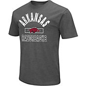 Colosseum Men's Arkansas Razorbacks Grey Dual Blend T-Shirt