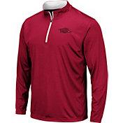 Colosseum Men's Arkansas Razorbacks Cardinal Embossed Quarter-Zip Performance Shirt