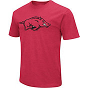 Colosseum Men's Arkansas Razorbacks Cardinal Dual Blend T-Shirt