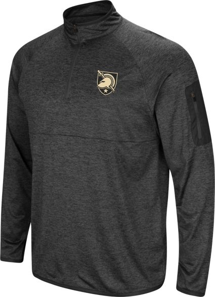 d6232aa7 Colosseum Men's Army West Point Black Knights Grey Amnesia Quarter-Zip Shirt