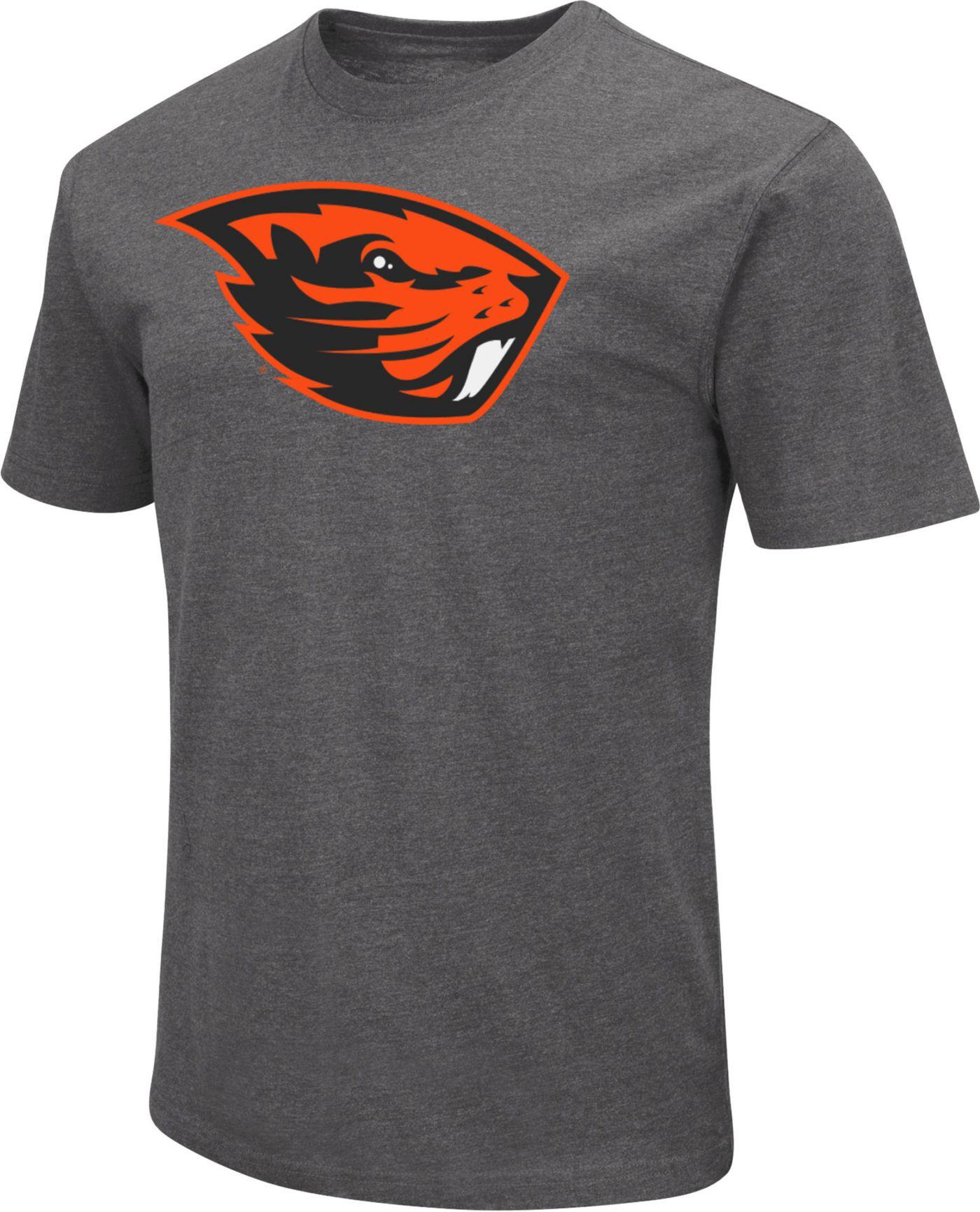 Colosseum Men's Oregon State Beavers Grey Dual Blend T-Shirt