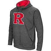 Colosseum Men's Rutgers Scarlet Knights Grey Fleece Pullover Hoodie